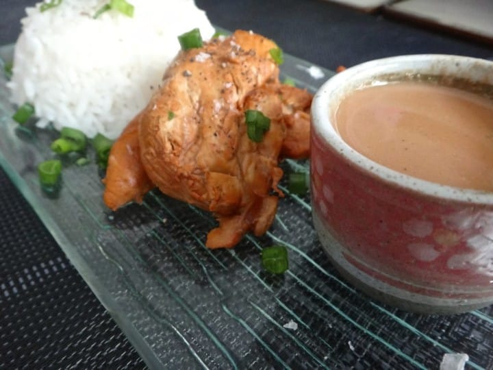 Chicken cooked with a twist. It is cooked in Indian traditional Chai - yes tea.