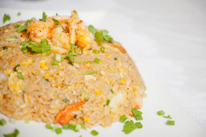Thai style lobster fried rice