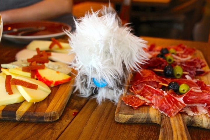 Now there is a story behind why the dog is there posing with the platters - for another time, focus on the food!!!