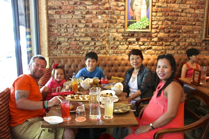 Family Kennett enjoying the fine dining with our friends at My Little Spanish Place.