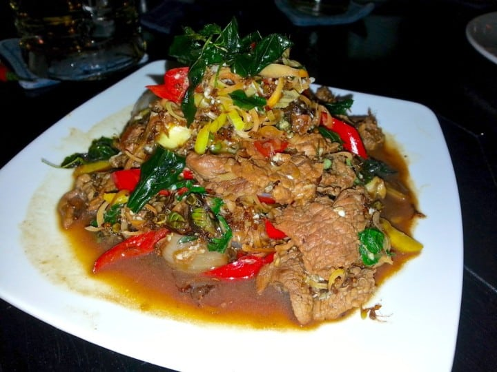 Cambodian Beef dish with Red Tree Ants - did I say ants...???