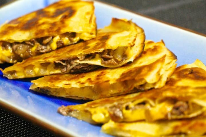 Beef and cheese tortillas