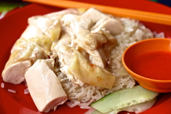Soy Eu Tua, chicken rice, Siglap the finished goods