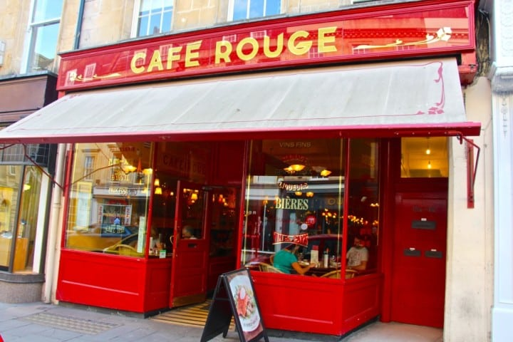 Cafe Rouge Bath frontage