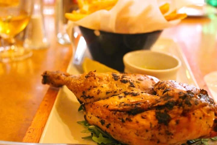 Cafe Rouge Bath half chicken with herb and garlic