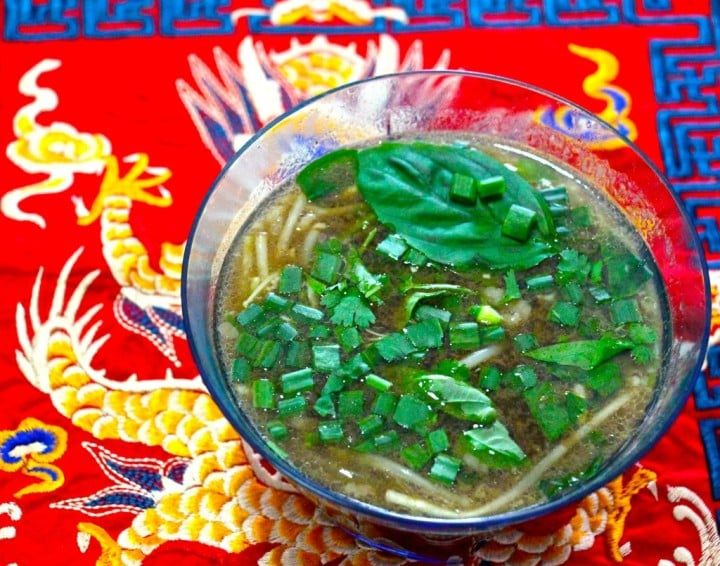 Asian beef noodle soup