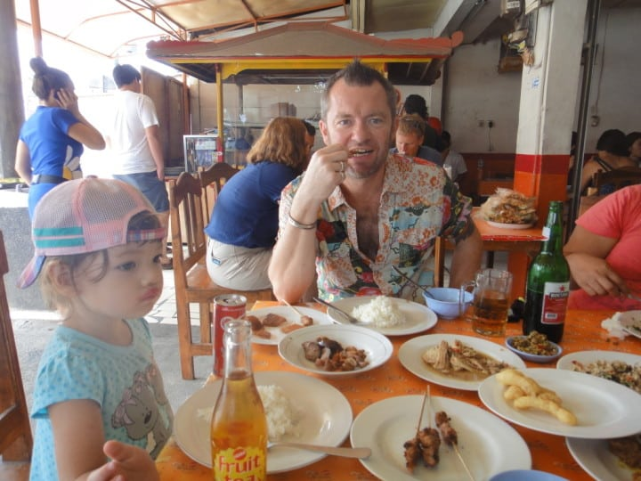Yours truly tucking in to the fare - and what a selection there was