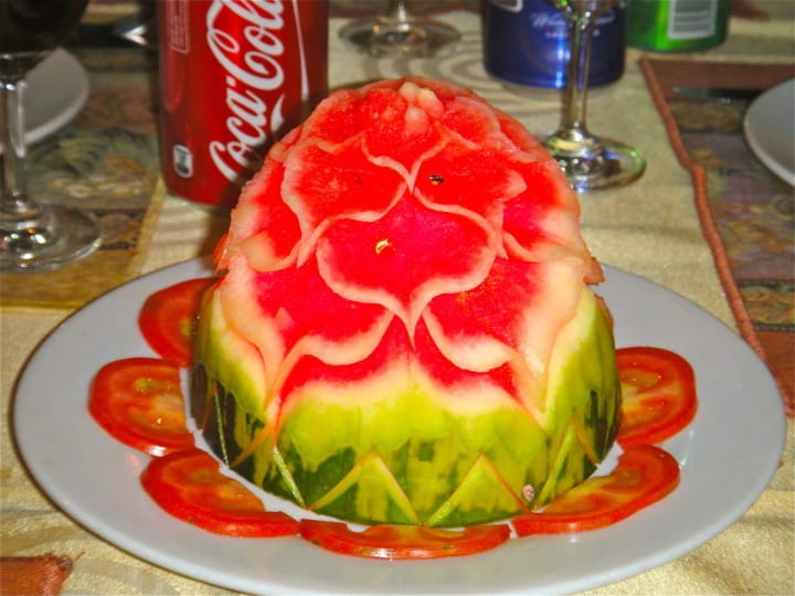Holy crap. I struggle to slice and de-seed watermelon - let alone something like this. OMG