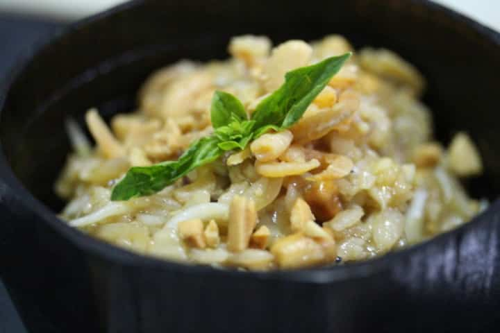 Coconut Jelly Fried Rice with Baby Shrimps