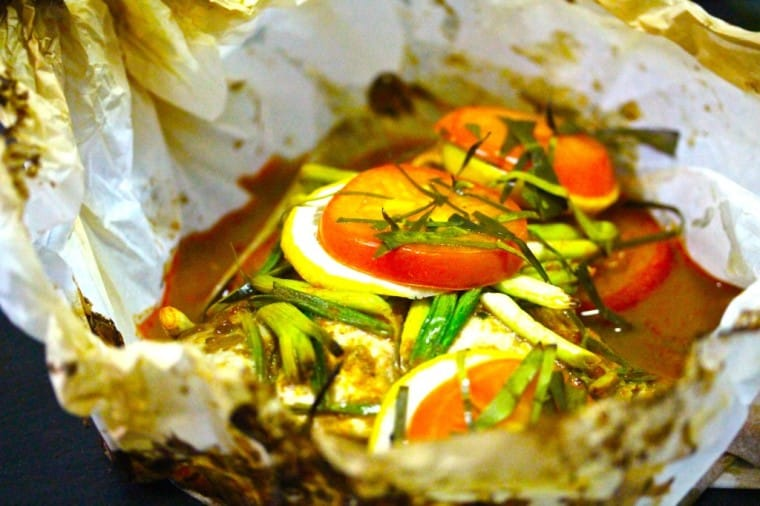 Roasted and Curried Red Snapper