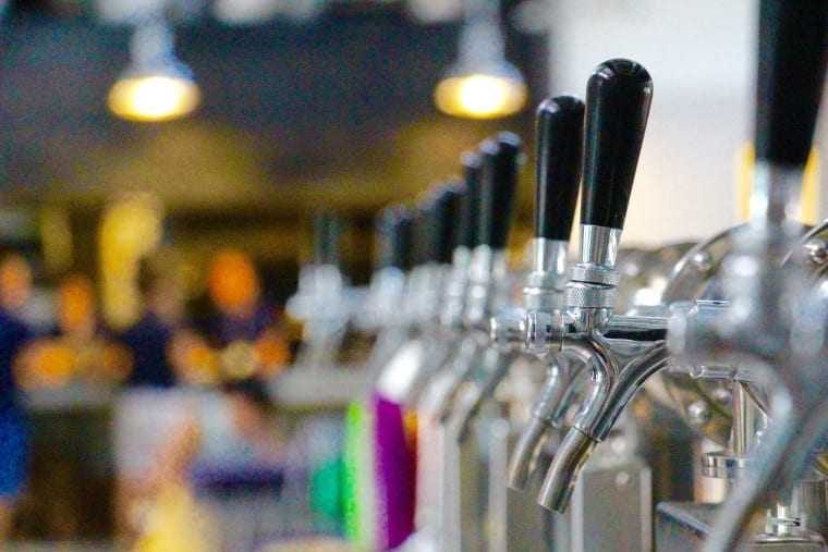 Here's the infamous beer taps - tap and pour = so cool