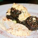 Black Pudding with Coarse Cheese and Horseradish