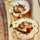 ChillaxBBQ ponzu and bacon bit scallops