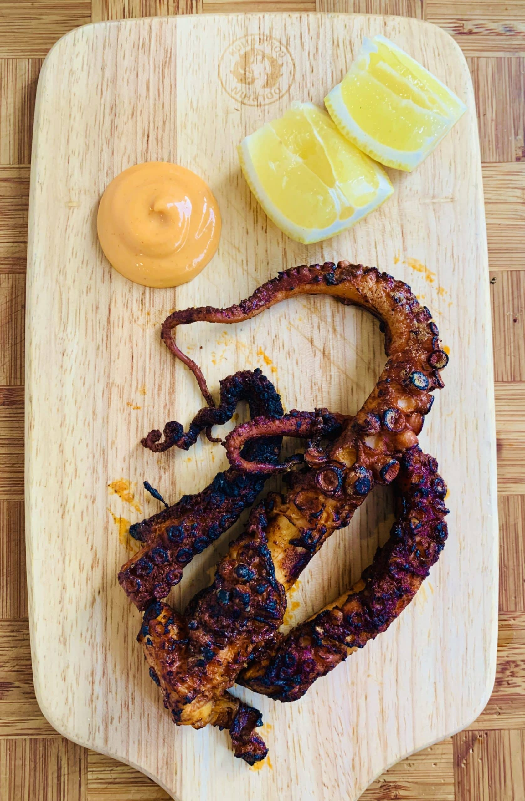 Smoky Paprika Octopus 'w' Sriracha & ChillaxBBQ Dinner