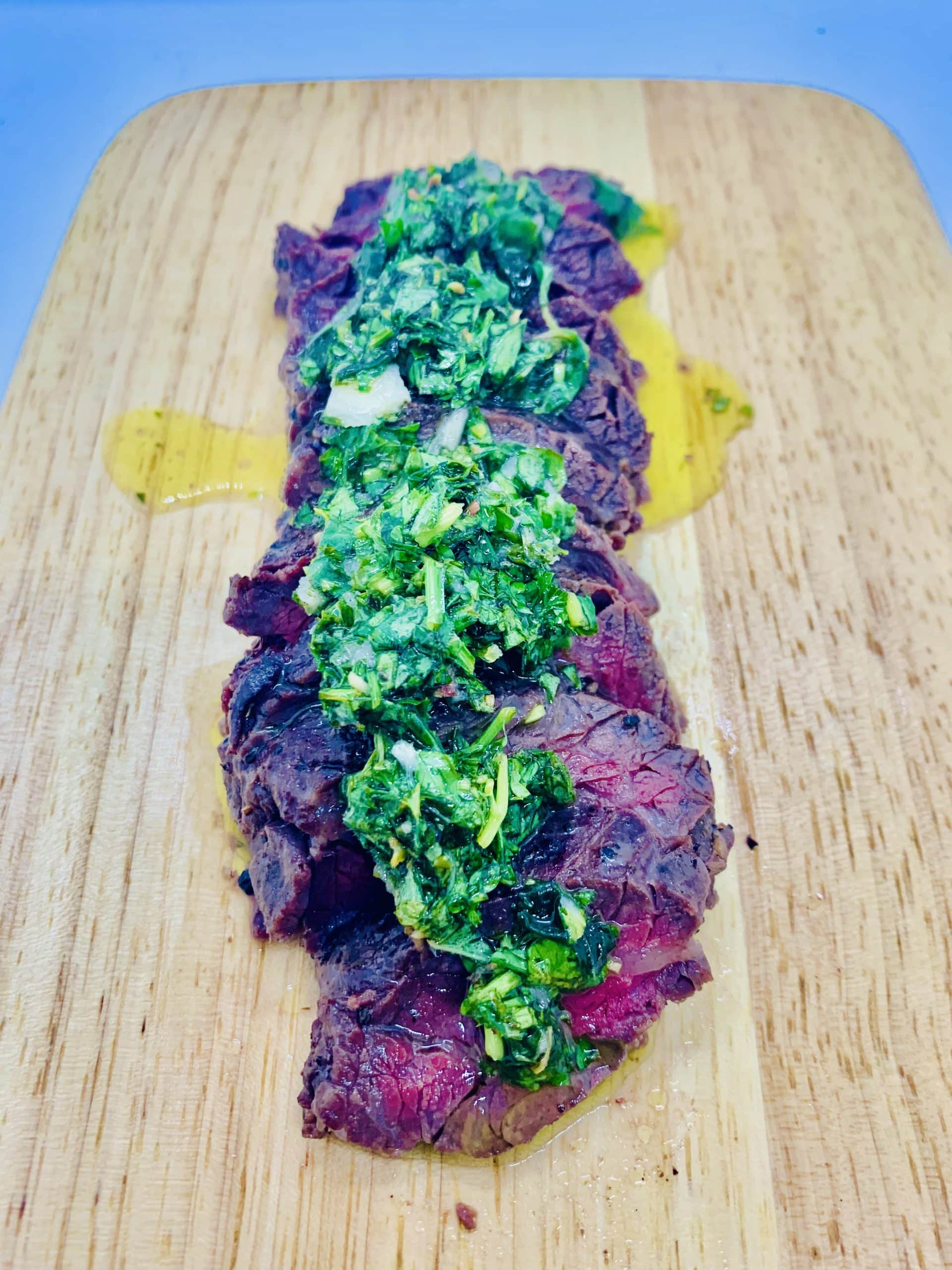ChillaxBBQ Stay@Home Recipes #38 - Onglet 3-ways 'w' Chimichurri Sauce
