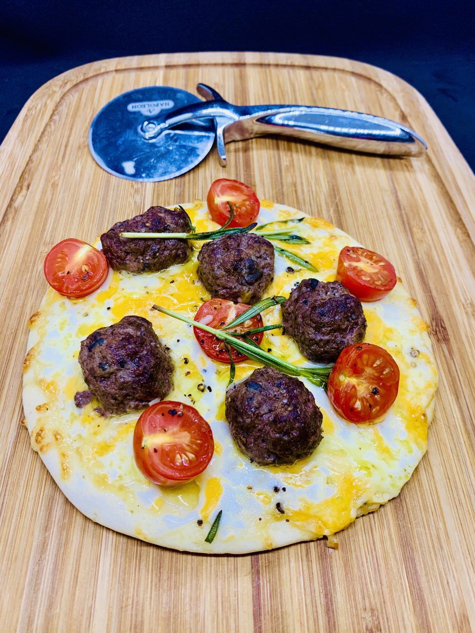 Wagyu 'w' Black Truffle Meatball Kid's Pizza