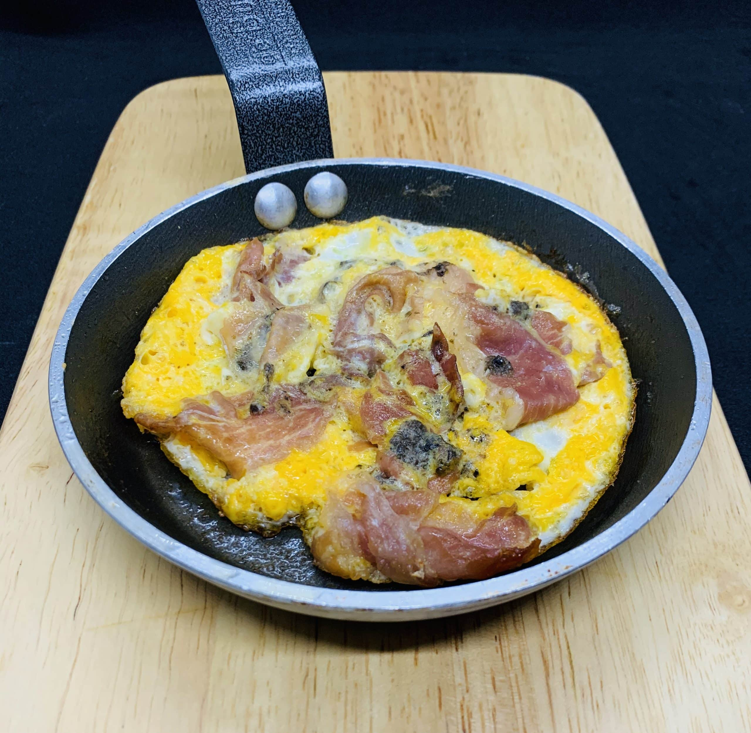 Baked Mini Omelette 'w' Parma Ham