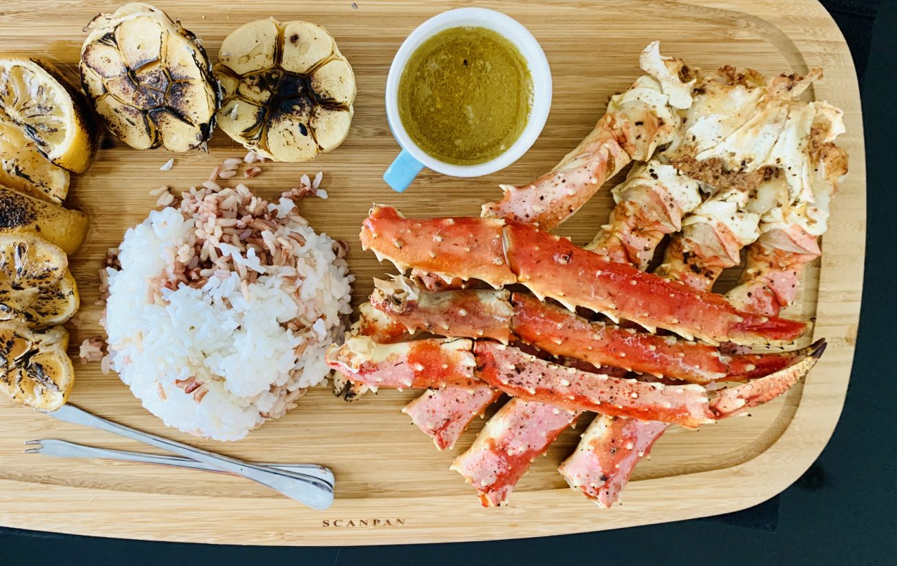Steamed King Crab 'w' Citrus & Garlic